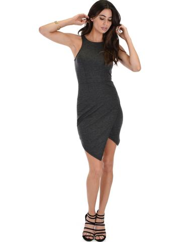 Lyss Loo Rock & Ready Charcoal Bodycon Dress - Jeanetteshus