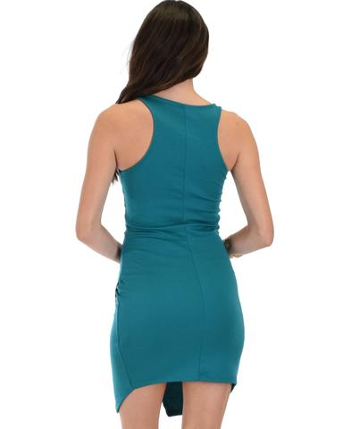 Lyss Loo Rock & Ready Green Bodycon Dress - Jeanetteshus