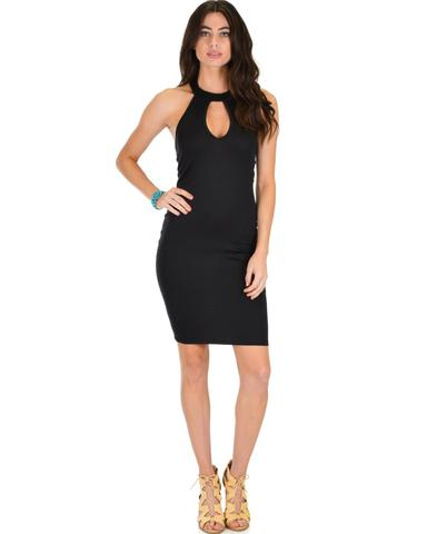 Lyss Loo Essential Spice Black Bodycon Dress - Jeanetteshus