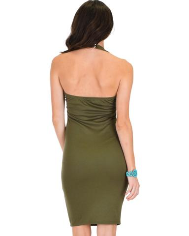 Lyss Loo Essential Spice Olive Bodycon Dress - Jeanetteshus