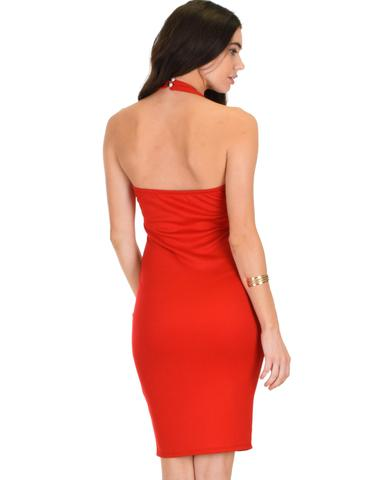 Lyss Loo Essential Spice Red Bodycon Dress - Jeanetteshus