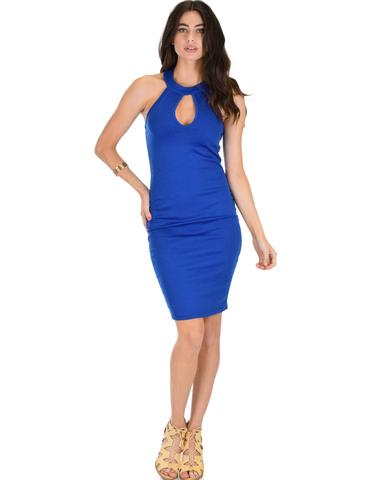 Lyss Loo Essential Spice Royal Bodycon Dress - Jeanetteshus