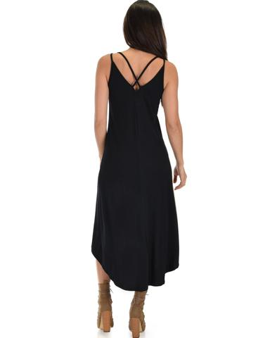 Lyss Loo All Wrapped Up Strappy Black Wrap Dress - Jeanetteshus