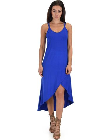 Lyss Loo All Wrapped Up Strappy Royal Wrap Dress - Jeanetteshus
