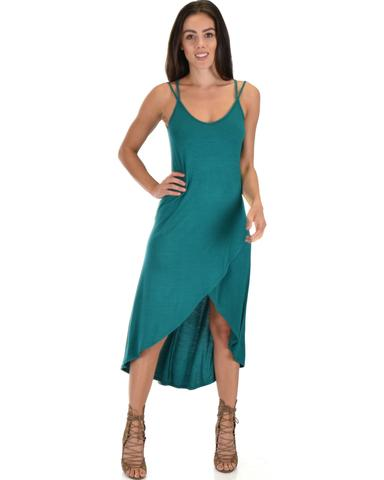Lyss Loo All Wrapped Up Strappy Green Wrap Dress - Jeanetteshus