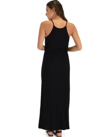 Lyss Loo Cherish The Day Black Maxi Dress With Cinched Waist - Jeanetteshus