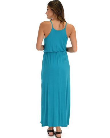Lyss Loo Cherish The Day Teal Maxi Dress With Cinched Waist - Jeanetteshus