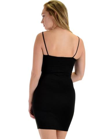 Lyss Loo Hug My Figure Bodycon Black Midi Dress - Jeanetteshus