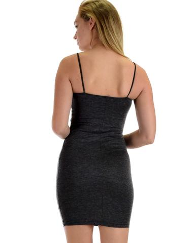 Lyss Loo Hug My Figure Bodycon Charcoal Midi Dress - Jeanetteshus