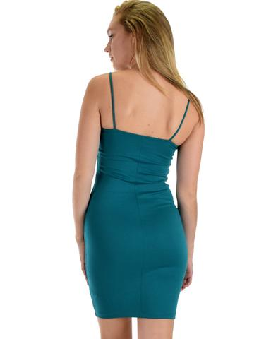 Lyss Loo Hug My Figure Bodycon Jade Midi Dress - Jeanetteshus