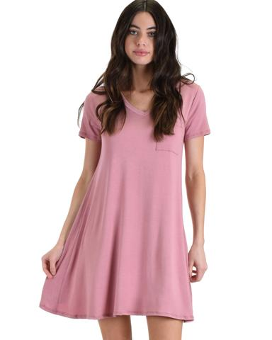 Lyss Loo Better Together Rose Shirt Tunic Dress With Pocket - Jeanetteshus