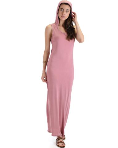 Lyss Loo Ascension Contemporary Mauve Hooded Maxi Dress - Jeanetteshus