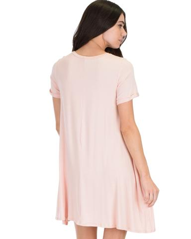Lyss Loo Reporting For Cutie Pink T-Shirt Tunic Dress - Jeanetteshus