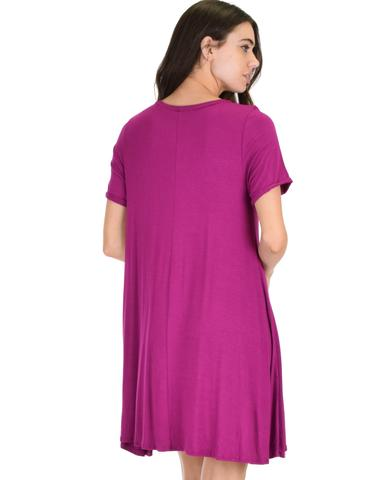 Lyss Loo Reporting For Cutie Magenta T-Shirt Tunic Dress - Jeanetteshus