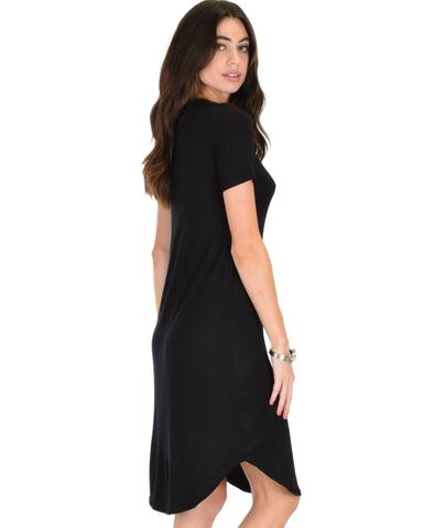 Lyss Loo Truly Madly Deep-V Neck Black Sleep Dress - Jeanetteshus