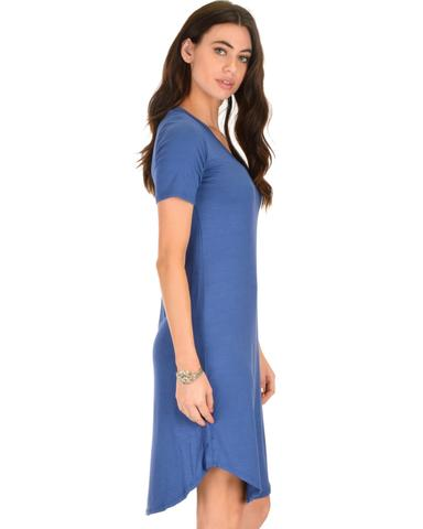 Lyss Loo Truly Madly Deep-V Neck Blue Sleep Dress - Jeanetteshus