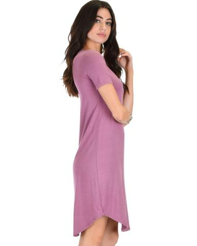 Lyss Loo Truly Madly Deep-V Neck Mauve Sleep Dress - Jeanetteshus