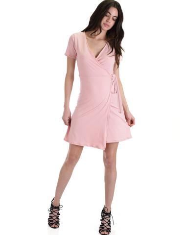 Lyss Loo Don't Tell 'Em Rose Wrap Dress - Jeanetteshus