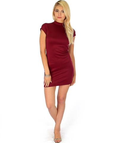 Lyss Loo Show Off Burgundy Bodycon Dress - Jeanetteshus