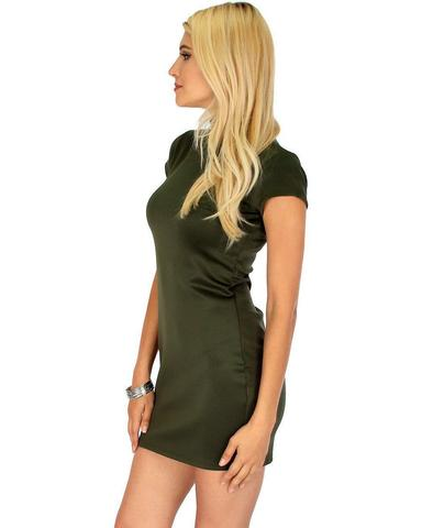 Lyss Loo Show Off Olive Bodycon Dress - Jeanetteshus