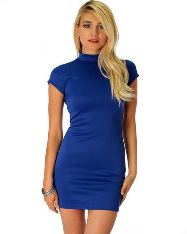 Lyss Loo Show Off Royal Bodycon Dress - Jeanetteshus