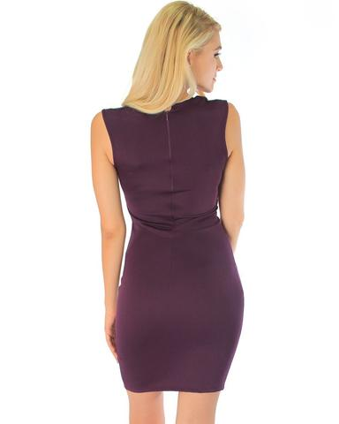 Lyss Loo Cocktail Hour V-Neck Purple Bodycon Dress - Jeanetteshus