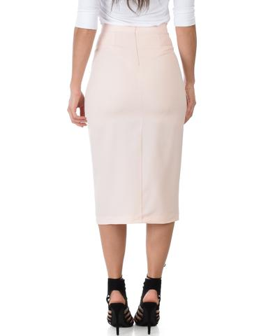 High Waist Pencil Skirt With Pockets
