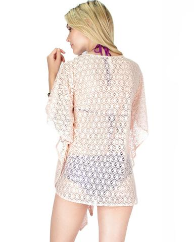 Air & Sea Lace Cover-Up Top