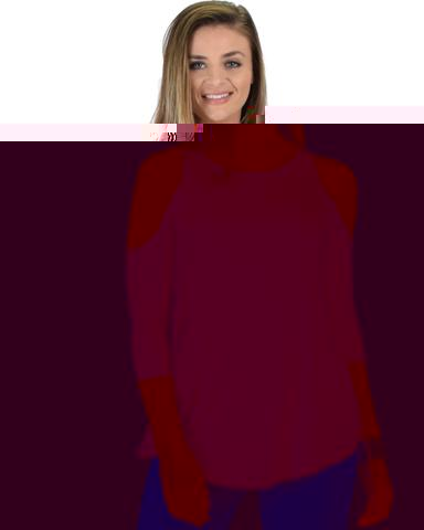 Lyss Loo In Good Company Cold Shoulder Mauve 3/4 Sleeve Top - Jeanetteshus