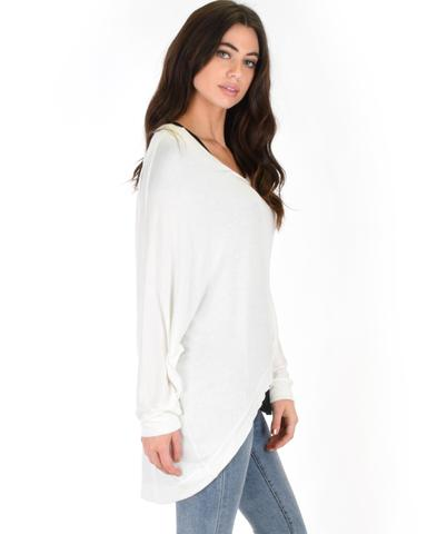Lyss Loo Light Weight Camille Spring Ivory Sweater Top - Jeanetteshus