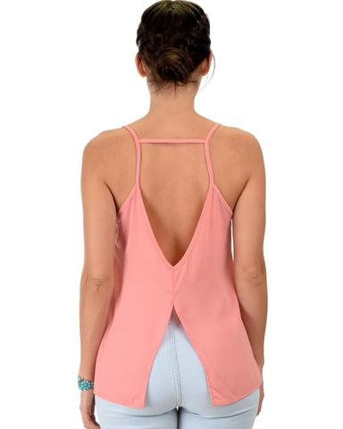 Lyss Loo What's Strap-Pening Cross Back Straps Pink Tank Top - Jeanetteshus